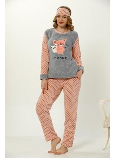 Akbeniz Welsoft Kadın Pijama Takım Gri